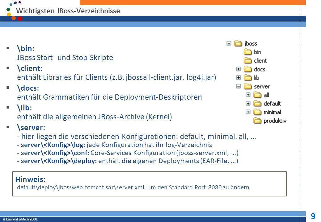 © JBoss, Inc.2003-2005. 10 Professional Open Source © Laurent & Mich 2006.