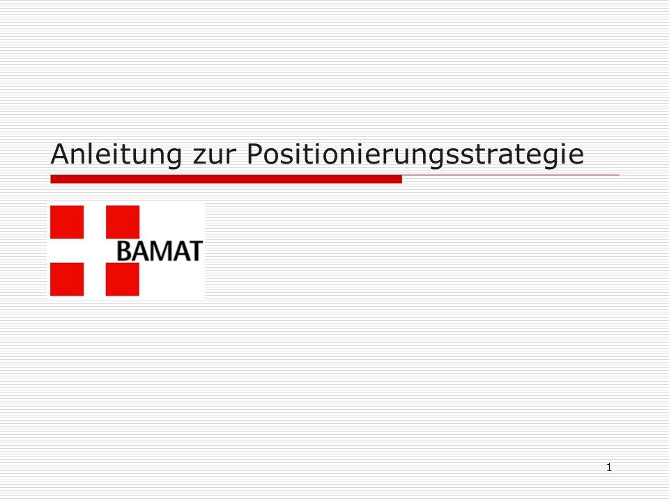 1 Anleitung zur Positionierungsstrategie