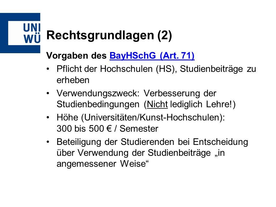 Rechtsgrundlagen (2) Vorgaben des BayHSchG (Art. 71)BayHSchG (Art.