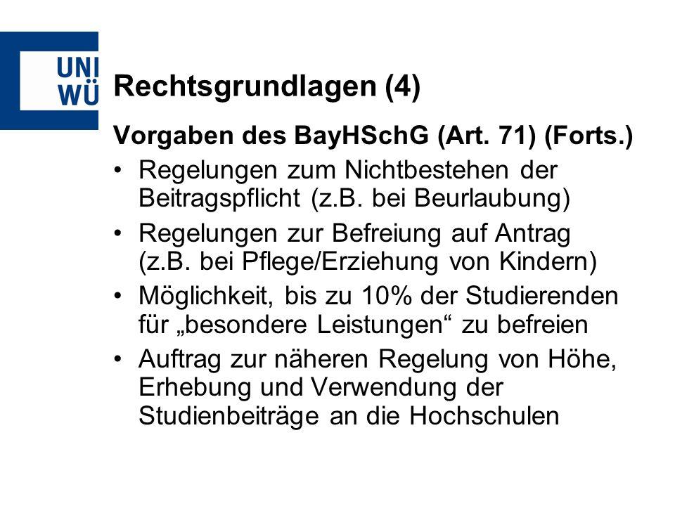 Rechtsgrundlagen (4) Vorgaben des BayHSchG (Art.
