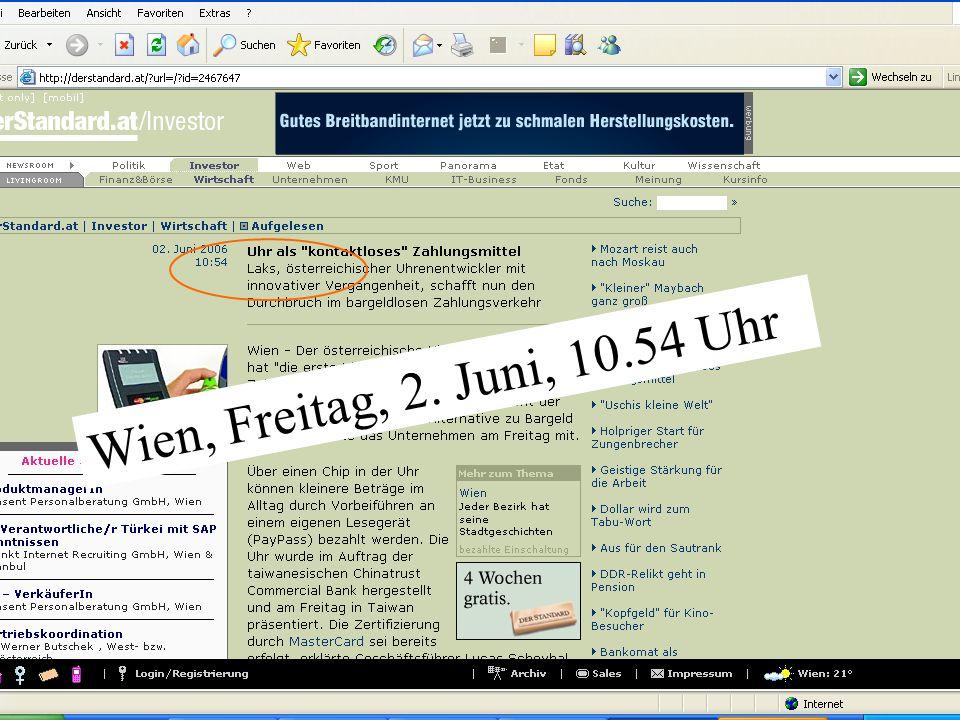 10 Wien, Freitag, 2. Juni, 10.54 Uhr
