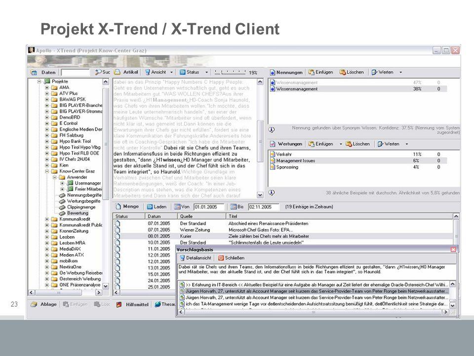 23 Projekt X-Trend / X-Trend Client