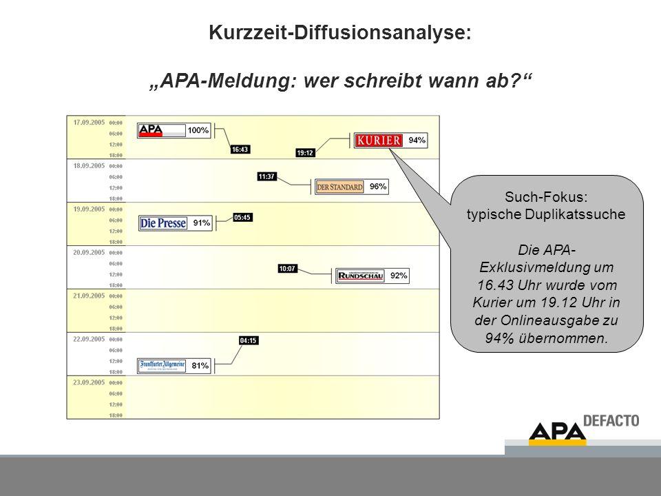 5 Langzeit-Diffusionsanalyse: APA-Meldung: wer übernimmt wie stark welche Inhalte.