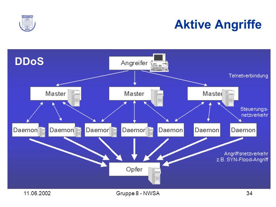11.06.2002Gruppe 8 - NWSA34 Aktive Angriffe DDoS