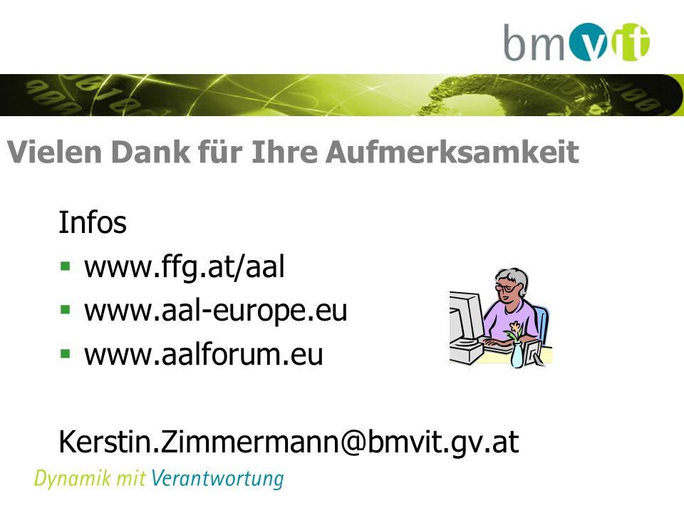 Vielen Dank für Ihre Aufmerksamkeit Infos www.ffg.at/aal www.aal-europe.eu www.aalforum.eu Kerstin.Zimmermann@bmvit.gv.at