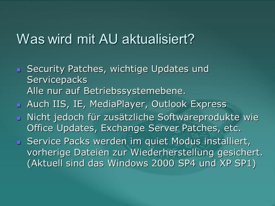 Was wird mit AU aktualisiert.