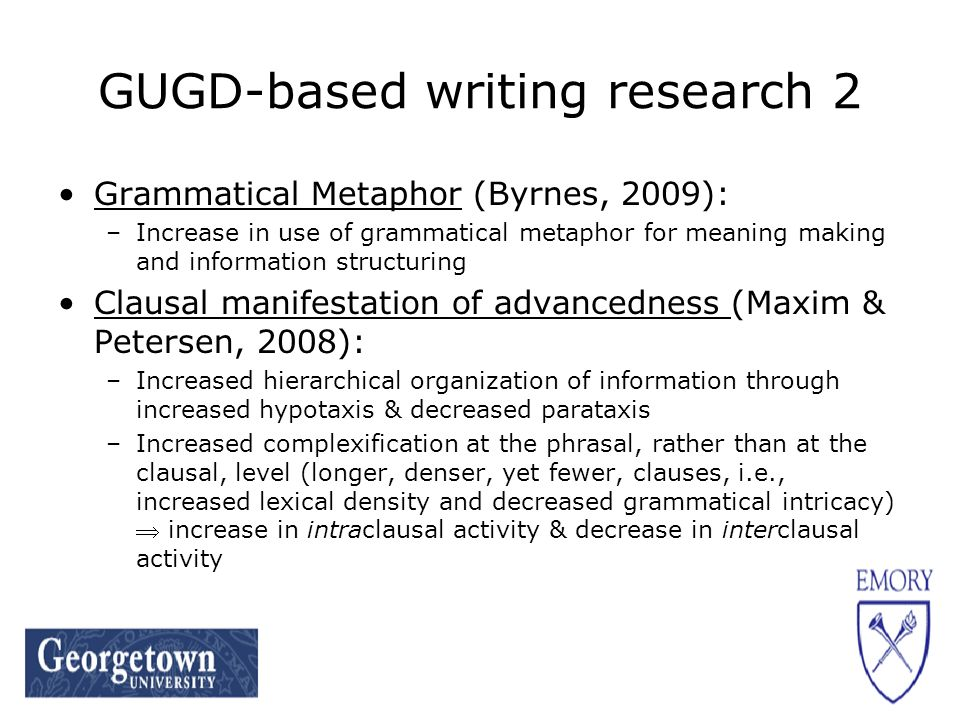 Conclusions Factors affecting elicitation of passive voice among L2 German learners: –Synoptic semiosis –Field (as manifested in entities, participants) –Agents saliency –Convertibility Cline of appropriateness for passive voice Relevance of passive voice for lower-level instruction within articulated curricula