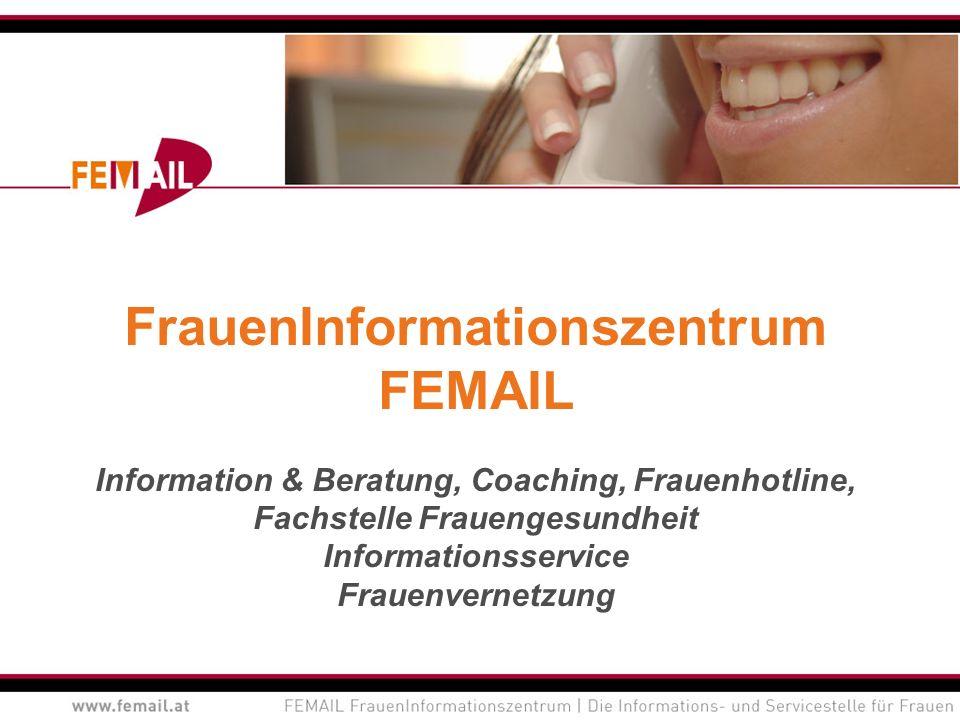 Geschäftsbereiche Information & Beratung Coaching Veranstaltungen und Projekte Informationsservice Fachstelle Frauengesundheit