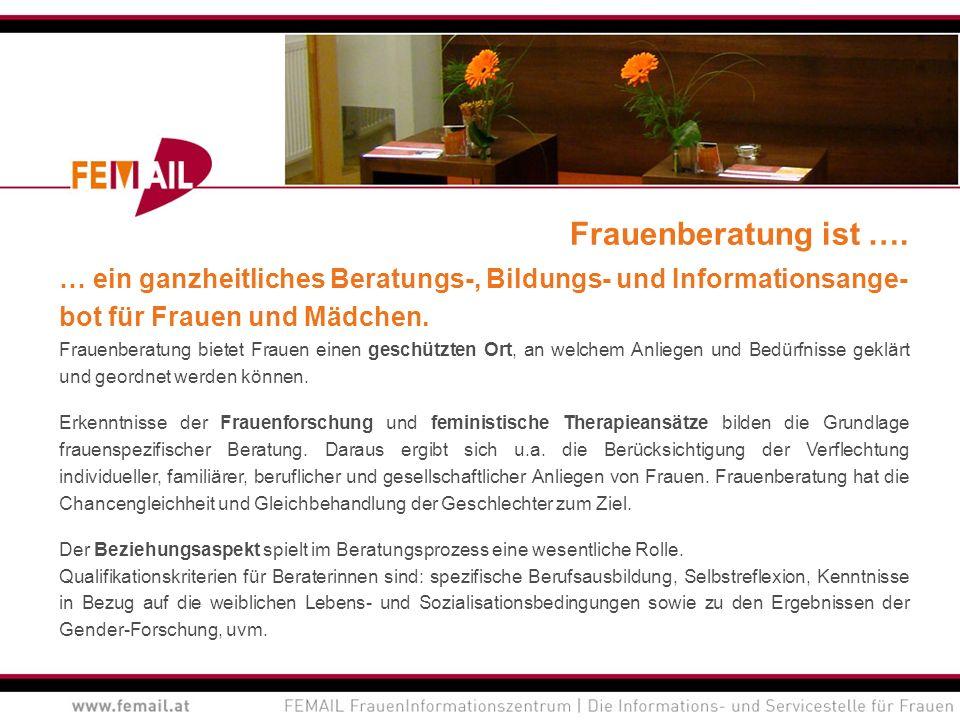 Netzwerkarbeit Fachstelle Frauengesundheit Die Fachstelle Frauengesundheit FEMAIL fördert die aktive Vernetzung und den Fachaustausch zu Themen der Gesundheit von Frauen und Mädchen innerhalb der Region Vorarlbergs.