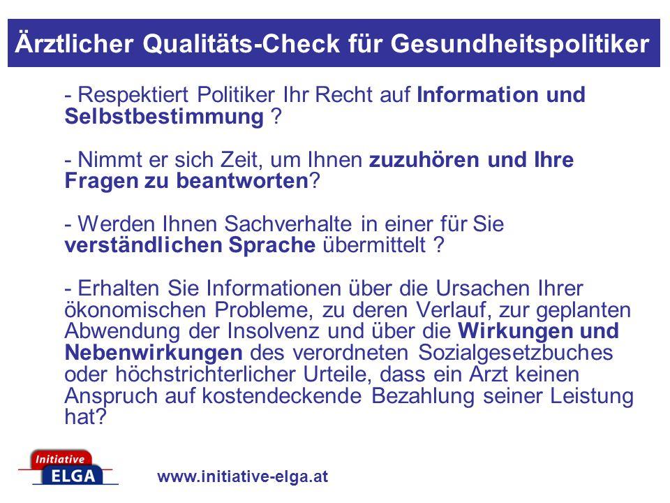www.initiative-elga.at - Respektiert Politiker Ihr Recht auf Information und Selbstbestimmung .