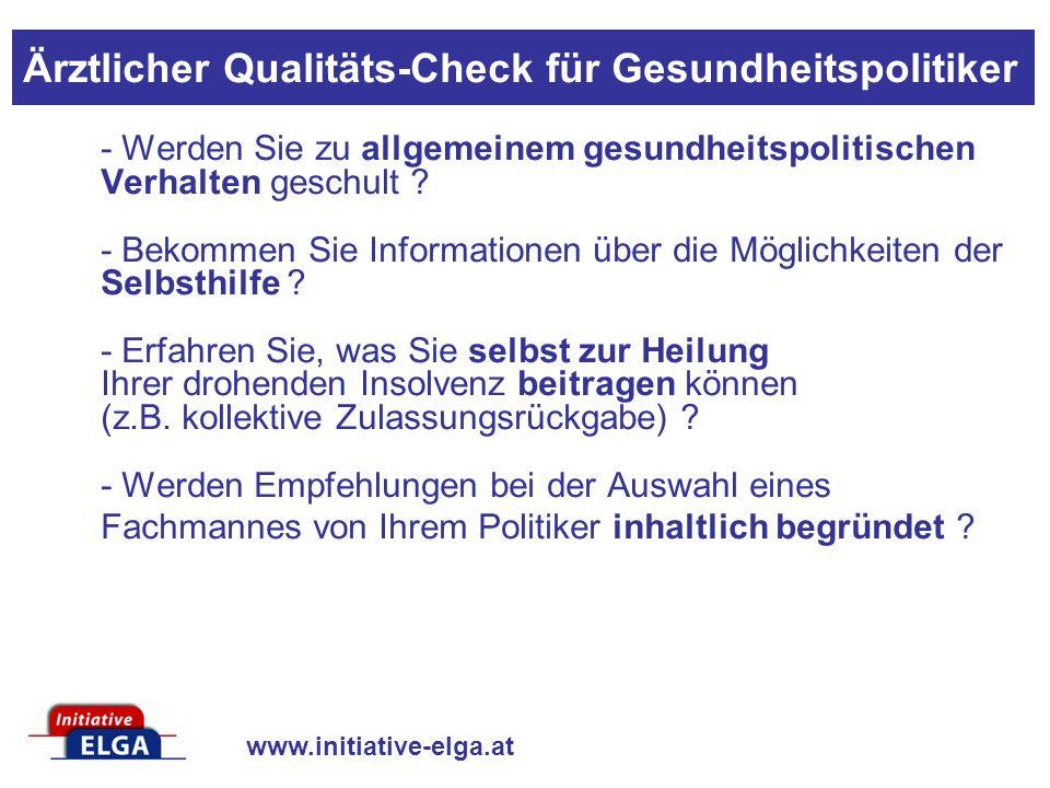 www.initiative-elga.at - Werden Sie zu allgemeinem gesundheitspolitischen Verhalten geschult ? - Bekommen Sie Informationen über die Möglichkeiten der