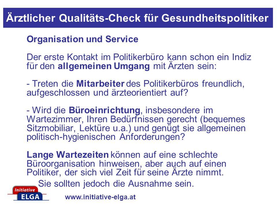 www.initiative-elga.at - Werden vereinbarte Termine eingehalten.