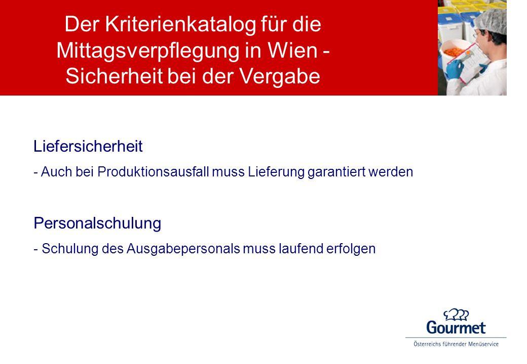Liefersicherheit - Auch bei Produktionsausfall muss Lieferung garantiert werden Personalschulung - Schulung des Ausgabepersonals muss laufend erfolgen
