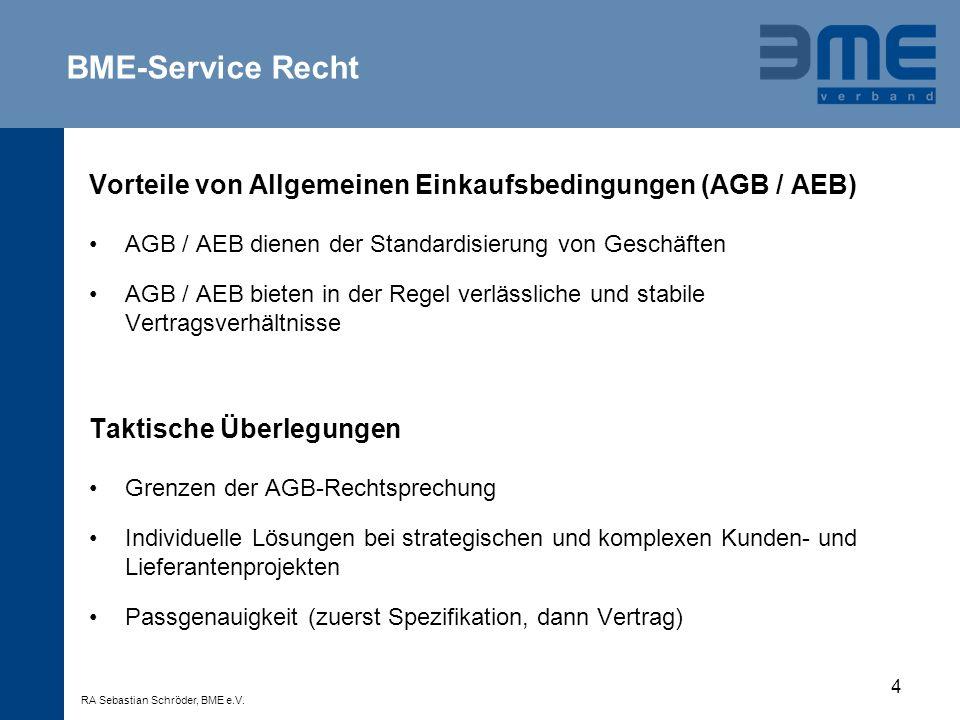 4 Vorteile von Allgemeinen Einkaufsbedingungen (AGB / AEB) AGB / AEB dienen der Standardisierung von Geschäften AGB / AEB bieten in der Regel verlässl