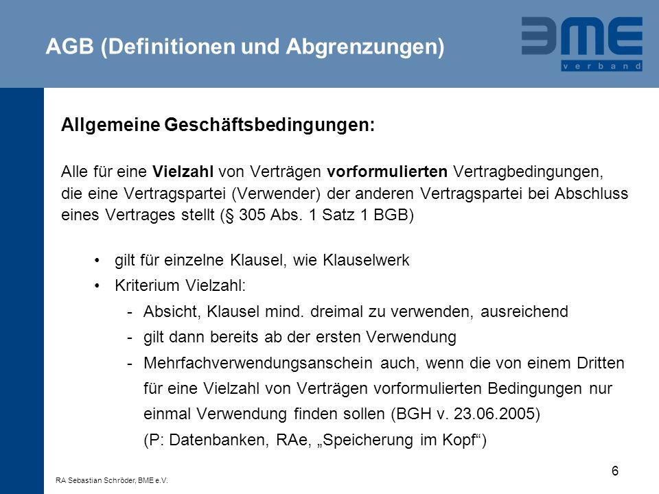 7 Allgemeine Geschäftsbedingungen Verwender: i.d.