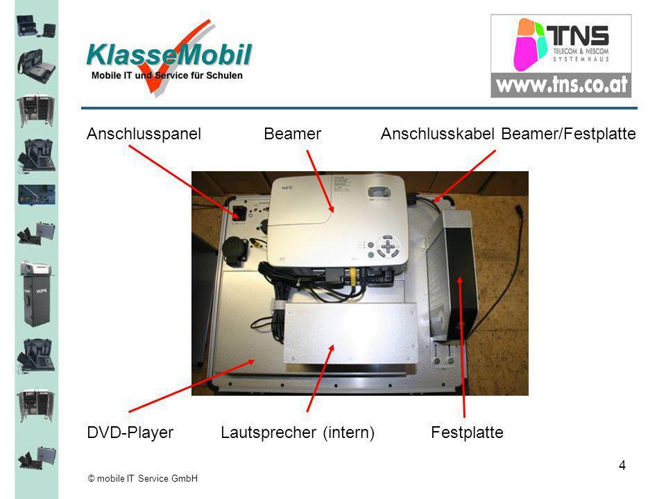 © mobile IT Service GmbH 5 220V Kabel aus der Tasche entnehmen und einstecken.
