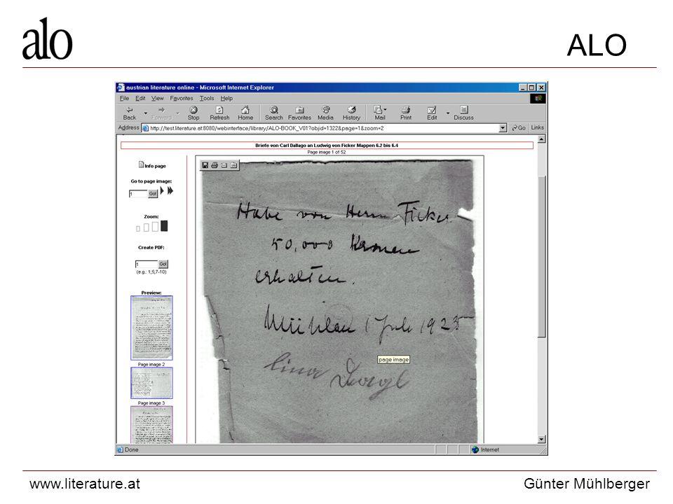 www.literature.atGünter Mühlberger ALO