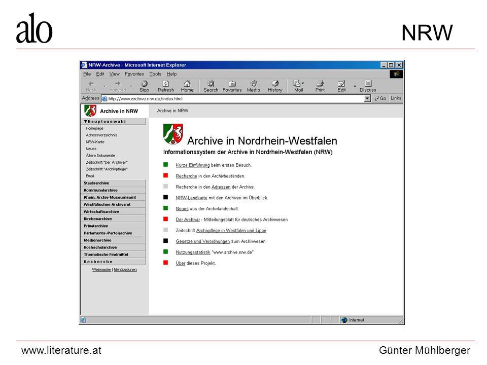 www.literature.atGünter Mühlberger NRW