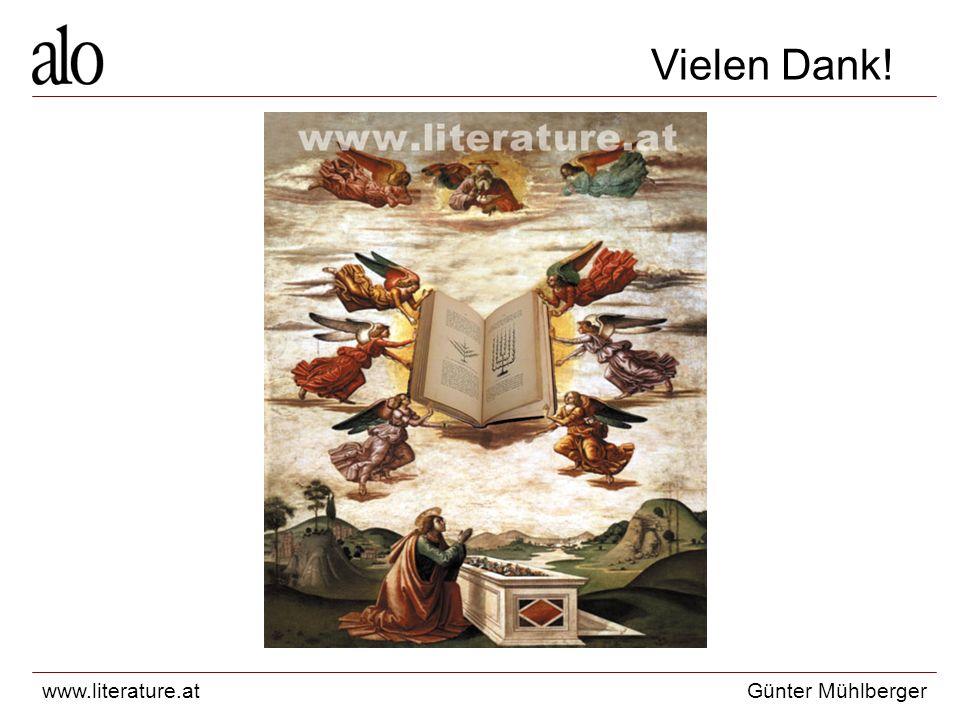 www.literature.atGünter Mühlberger Vielen Dank!