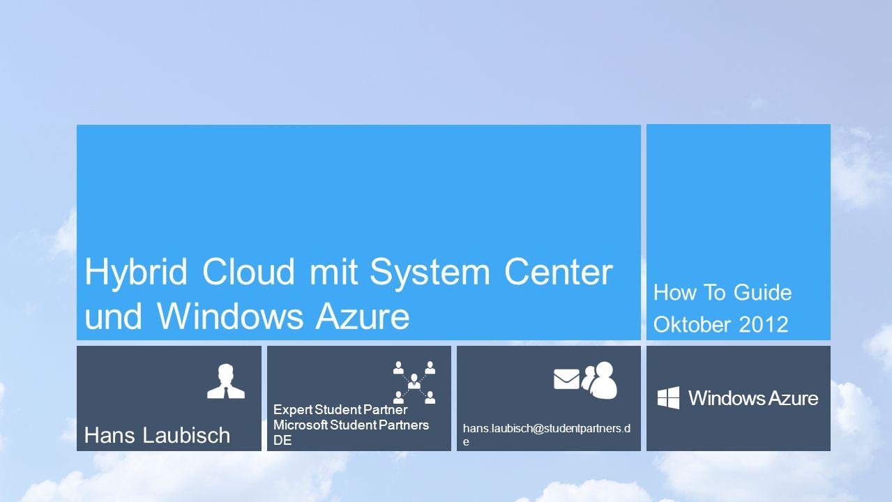 Überblick System Center 2012 SP1 Virtual Machine Manager App Controller Überblick Windows Azure Storage Virtual Machines Cloud Services App Controller als Self-Service Portal für Application owners in allen Clouds Agenda