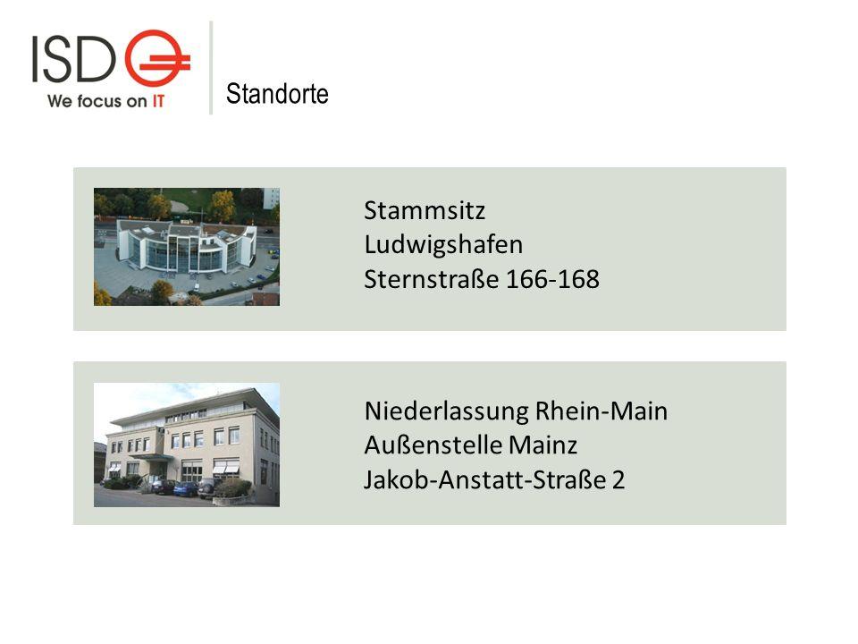 Stammsitz Ludwigshafen Sternstraße 166-168 Niederlassung Rhein-Main Außenstelle Mainz Jakob-Anstatt-Straße 2 Standorte