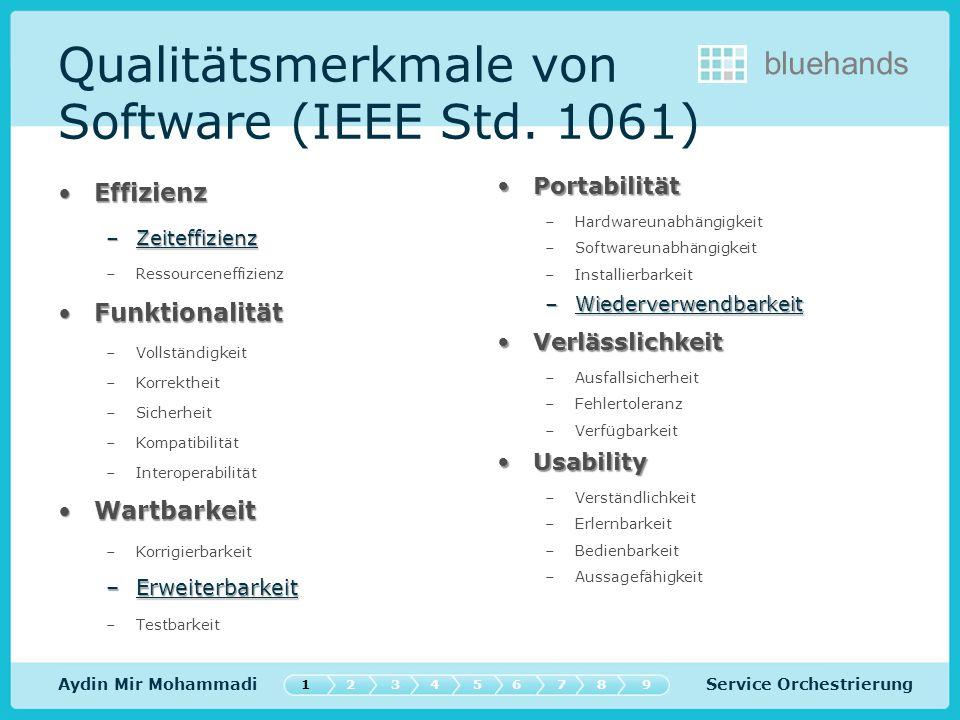 Service Orchestrierung bluehands Aydin Mir Mohammadi Qualitätsmerkmale von Software (IEEE Std.