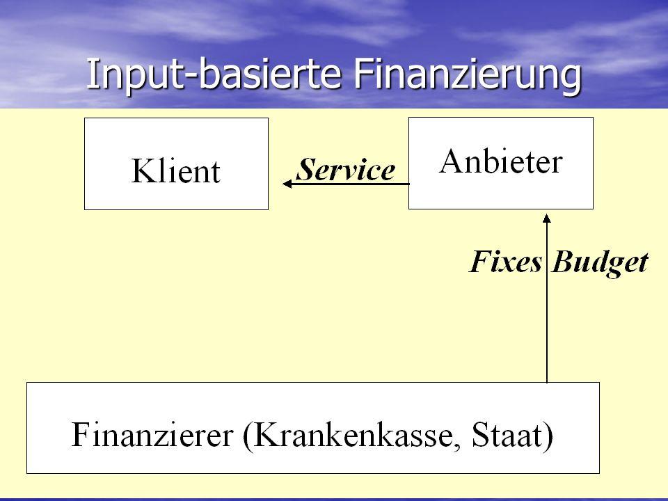 Input-basierte Finanzierung