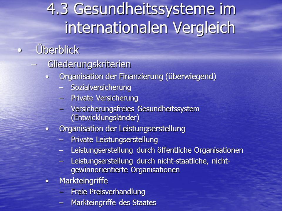 ÜberblickÜberblick –Gliederungskriterien Organisation der Finanzierung (überwiegend)Organisation der Finanzierung (überwiegend) –Sozialversicherung –P
