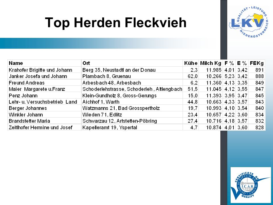 Top Herden Fleckvieh
