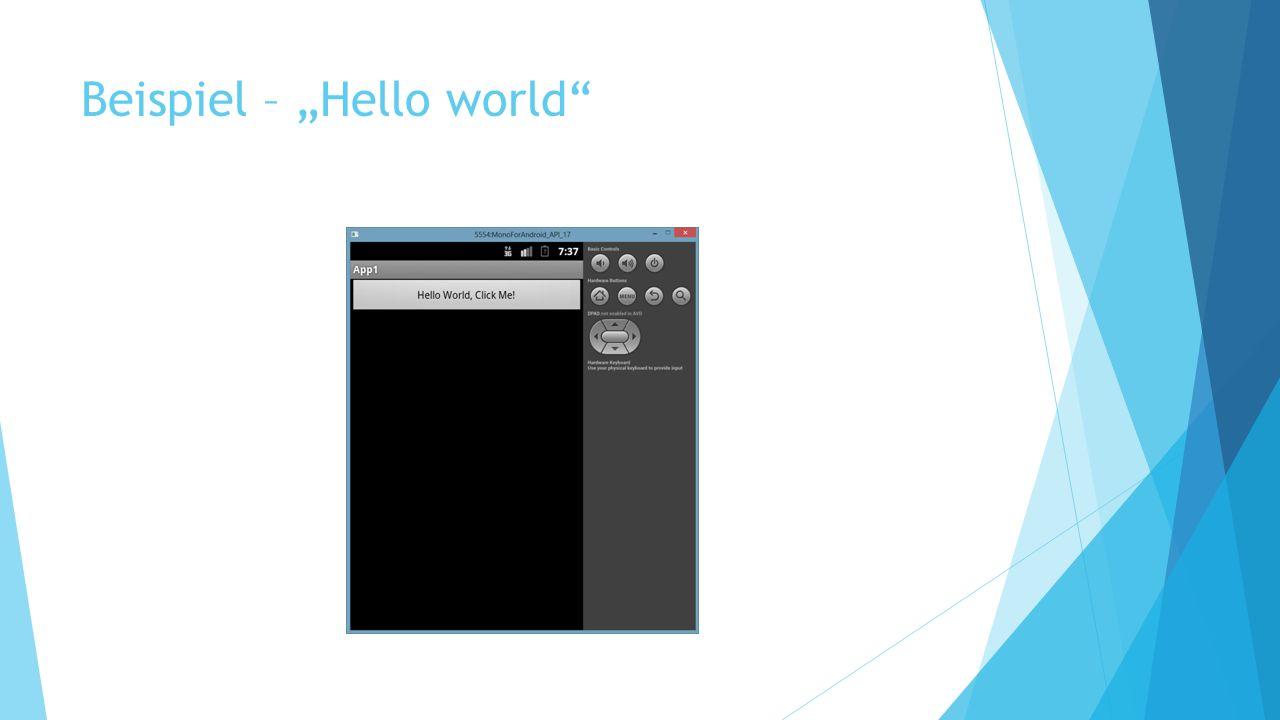 Beispiel – Hello world