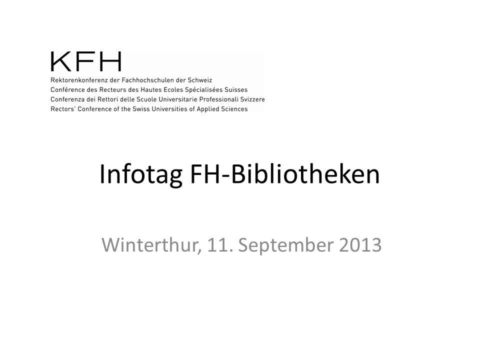 Infotag FH-Bibliotheken Winterthur, 11. September 2013