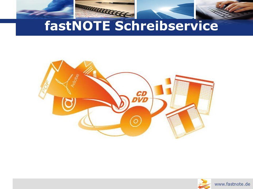 L o g o fastNOTE Schreibservice www.fastnote.de