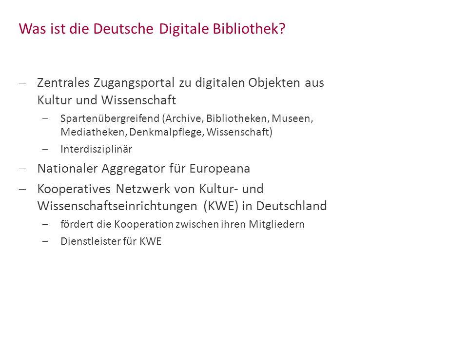 15 Das Europeana Data Model im Kontext der Deutschen Digitalen Bibliothek KIM-WS Mannheim 25.März 2013 Detailansicht (View) Statische Felder (DDB-Kernset, Pflichtfelder) Datenlieferant (Registrierungs- daten) Flexible Felder (Beschreibungs- daten, sparten- spezifisches Kernset) Binärcontent (Interner Viewer, provider- spezifisches Mapping)
