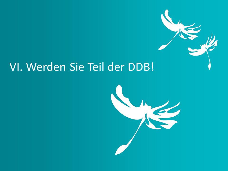 VI. Werden Sie Teil der DDB!