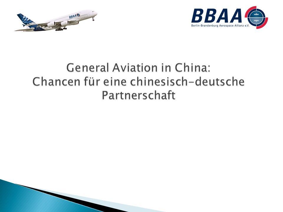 Übersicht Die Berlin-Brandenburg Aerospace Alliance Bereiche der Kooperationsmöglichkeiten General Aviation Kleine und mittlere Flugzeuge Ertüchtigung von Flugplätzen