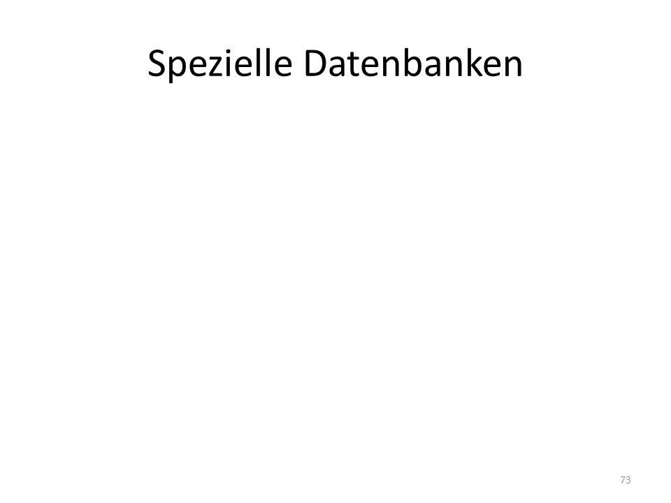 Spezielle Datenbanken 73