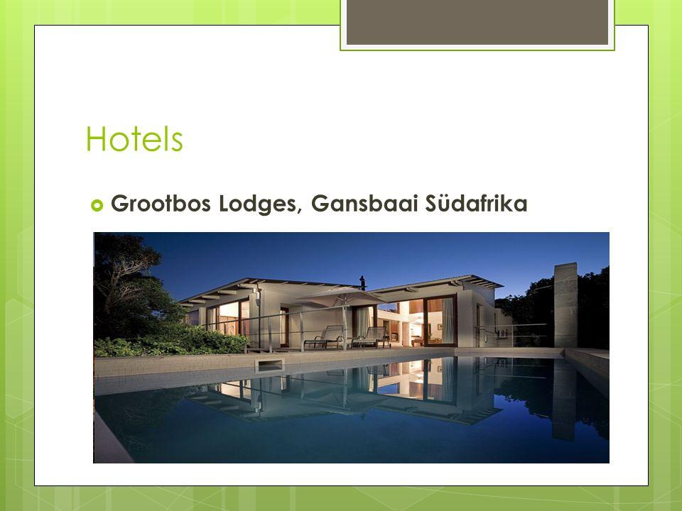 Hotels Grootbos Lodges, Gansbaai Südafrika