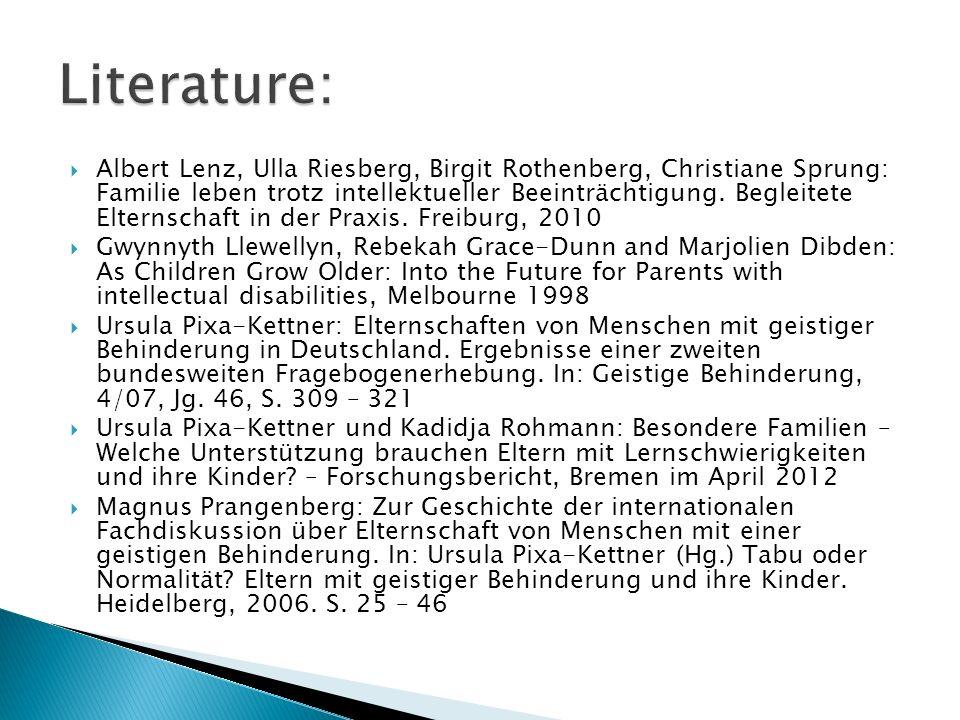Albert Lenz, Ulla Riesberg, Birgit Rothenberg, Christiane Sprung: Familie leben trotz intellektueller Beeinträchtigung. Begleitete Elternschaft in der