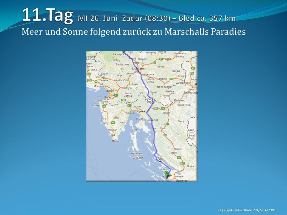 Meer und Sonne folgend zurück zu Marschalls Paradies Copyright by Moto Weder AG, Au SG / CH