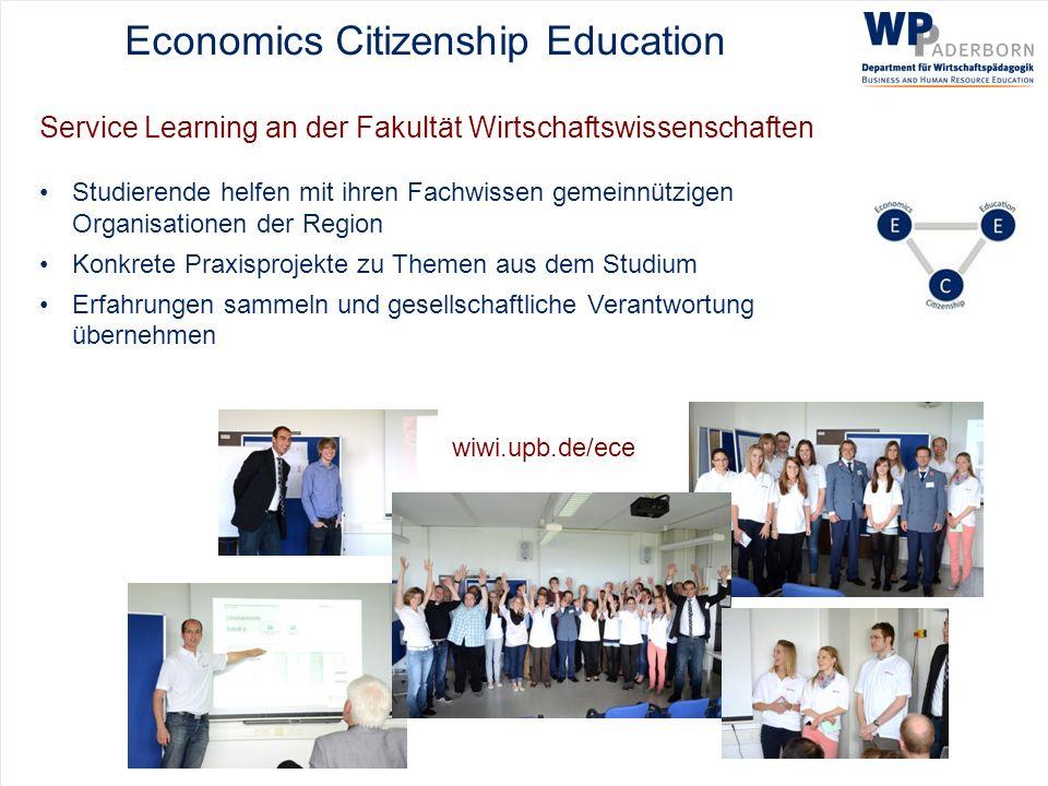 Economics Citizenship Education Service Learning an der Fakultät Wirtschaftswissenschaften Studierende helfen mit ihren Fachwissen gemeinnützigen Orga