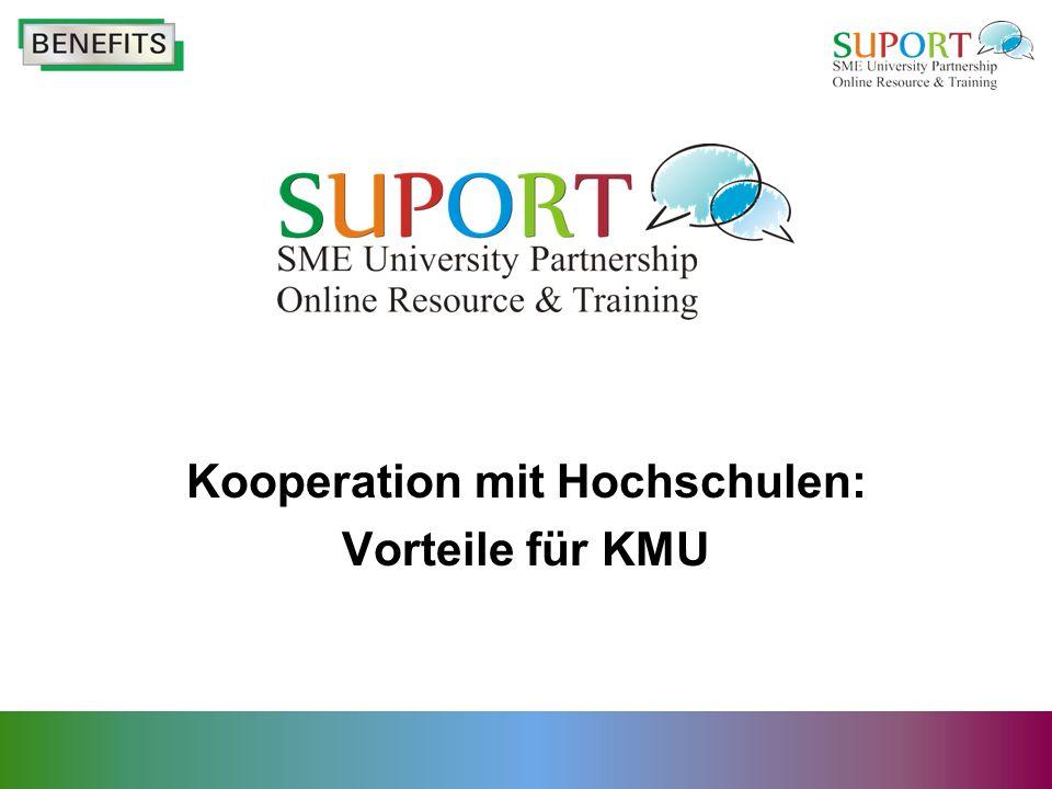 Internationale Netzwerke Kooperation von KMU mit Hochschulen