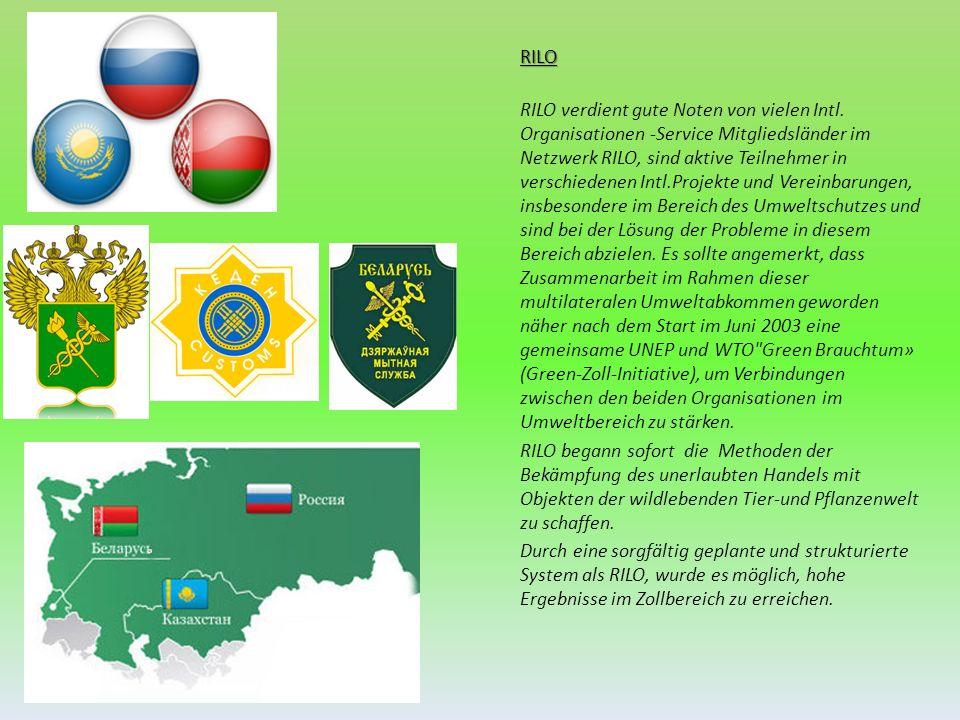 RILO RILO verdient gute Noten von vielen Intl. Organisationen -Service Mitgliedsländer im Netzwerk RILO, sind aktive Teilnehmer in verschiedenen Intl.