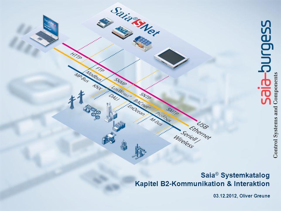 Saia ® Systemkatalog Kapitel B2-Kommunikation & Interaktion 03.12.2012, Oliver Greune