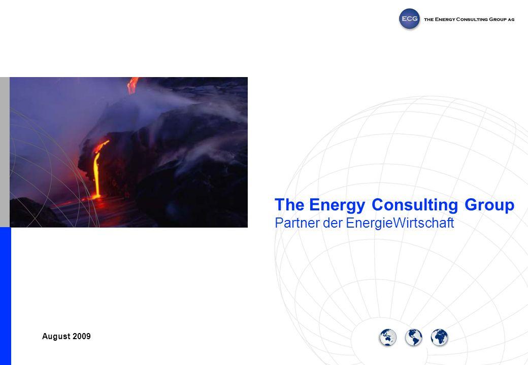 Seite 2 The Energy Consulting Group, ECG ECG wurde aufbauend auf die Erkenntnisse des Wettbewerbs im Kraftwerksmarkt und den Liberalisierungserfahrungen im Elektrizitätsbereich (USA/GB), 1999 als Spin-Off der ABB gegründet.