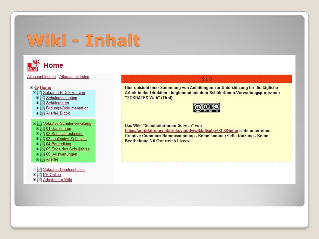 Wiki - Inhalt
