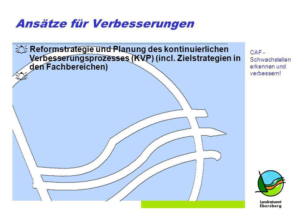 Folie 11 Ansätze für Verbesserungen Reformstrategie und Planung des kontinuierlichen Verbesserungsprozesses (KVP) (incl.