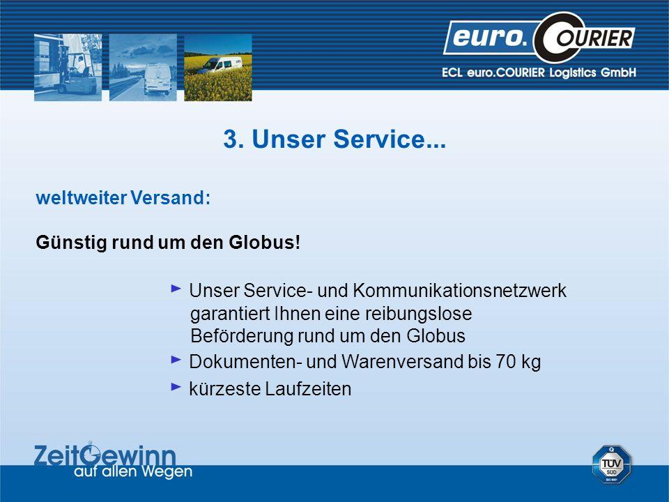weltweiter Versand: Günstig rund um den Globus! Unser Service- und Kommunikationsnetzwerk garantiert Ihnen eine reibungslose Beförderung rund um den G