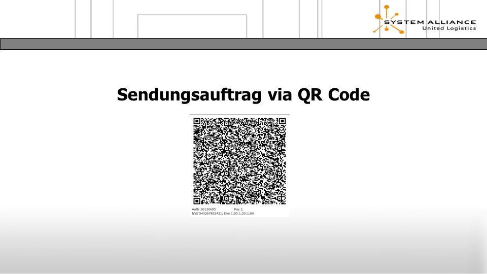 Sendungsauftrag via QR Code