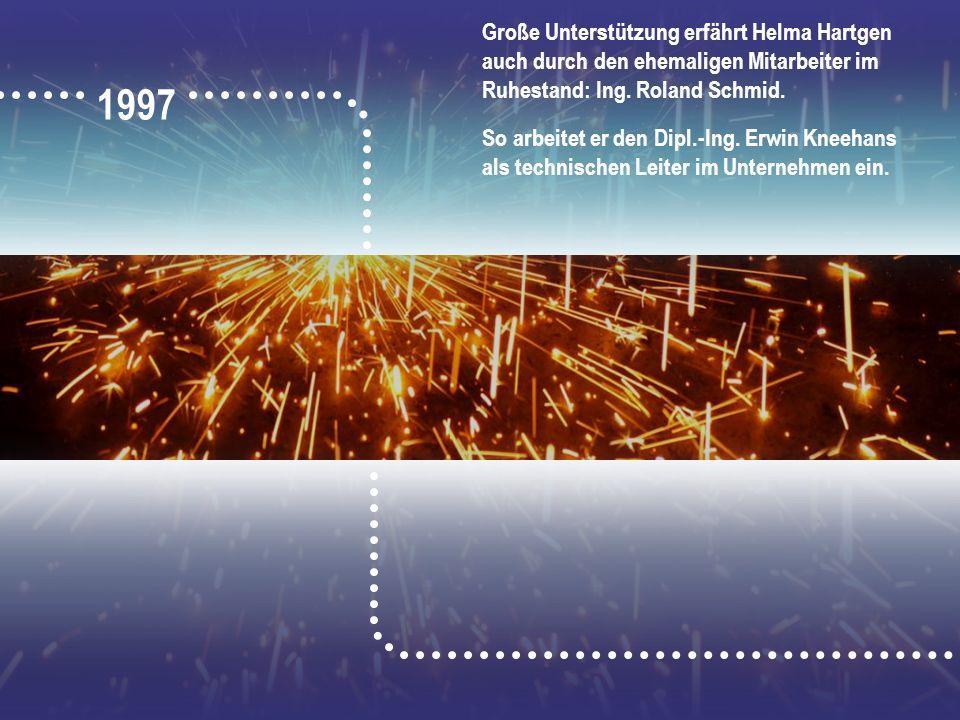 Große Unterstützung erfährt Helma Hartgen auch durch den ehemaligen Mitarbeiter im Ruhestand: Ing. Roland Schmid. So arbeitet er den Dipl.-Ing. Erwin