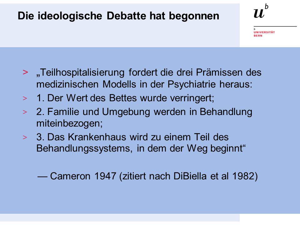Tagesklinik als dialektisches Prinzip allgemeinVersorgung vs.